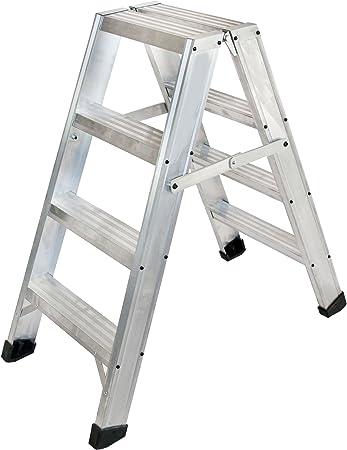 Arcama ETD4 Escalera tijera doble acceso industrial, 4 peldaños: Amazon.es: Bricolaje y herramientas