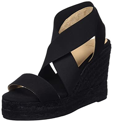 Castaner Bambu Noir - Chaussures Sandale Femme