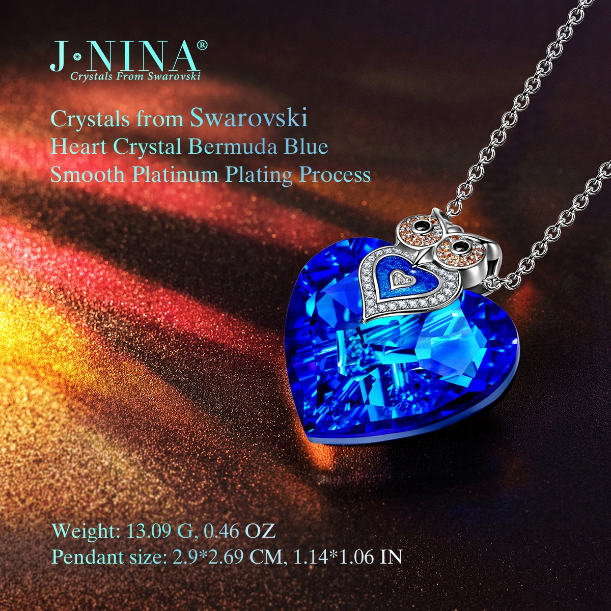 Amazon.com: J.NINA Gifts for Women Owl of Minerva Pendant Necklace with Swarovski  Crystals Anniversary Birthday Back to School Gift for Girlfriend Wife Mom  ...