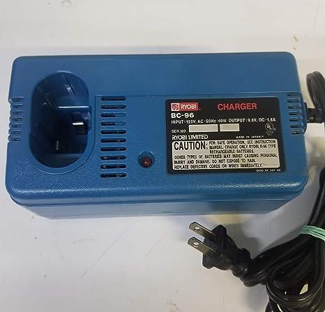 Amazon.com: Ryobi BC-96 9.6V cargador de batería: Home Audio ...