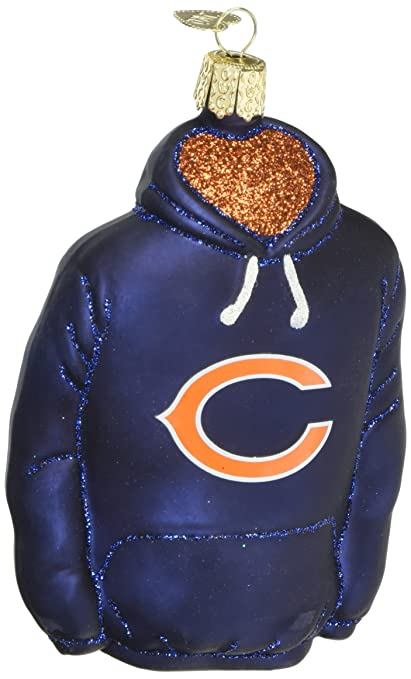 Old World Christmas Ornaments: NFL Chicago Bears Hoodie Glass Blown  Ornaments for Christmas Tree - Amazon.com: Old World Christmas Ornaments: NFL Chicago Bears Hoodie