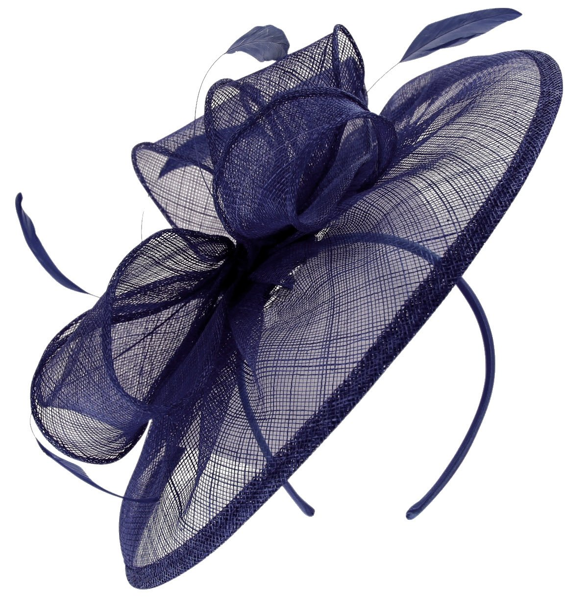 Failsworth Millinery Sinamay Disc Headpiece in Cobalt, Size: One Size