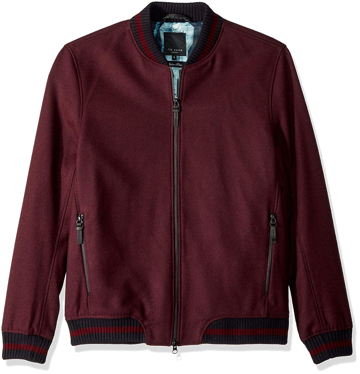 de2de5402 Amazon.com: Ted Baker Men's Freddy Modern Slim Fit Wool Bomber ...