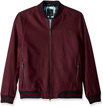 92dcea2e35a Ted Baker Men's Freddy Modern Slim Fit Wool Bomber Jacket, red, ...