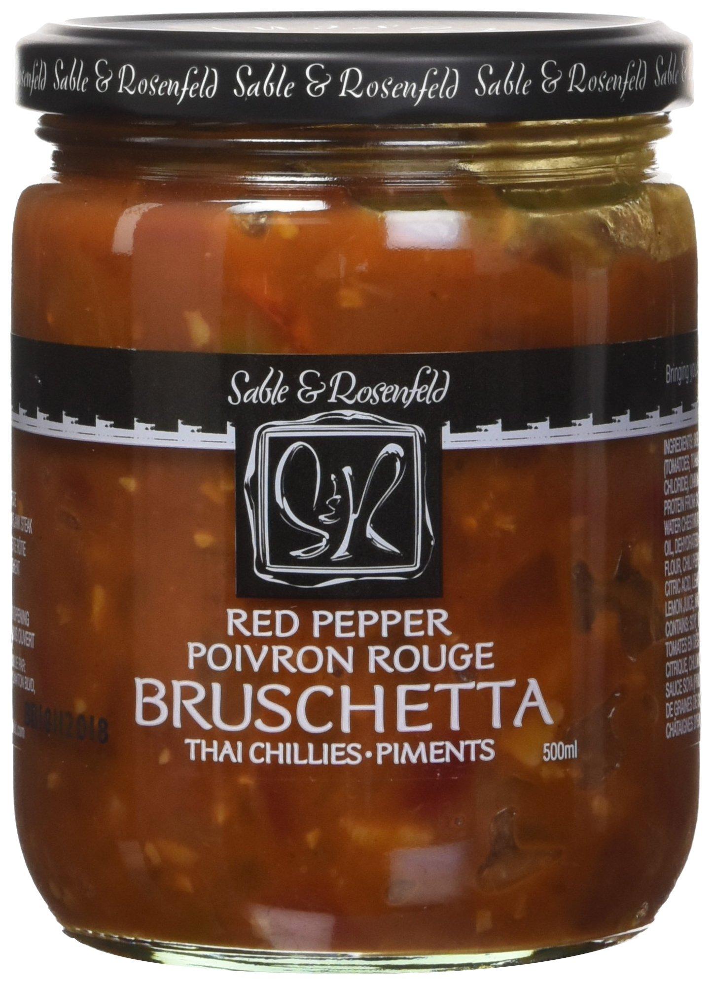 Sable and Rosenfeld Red Pepper Thai Bruschetta, 16.0 Ounce (Pack of 6)