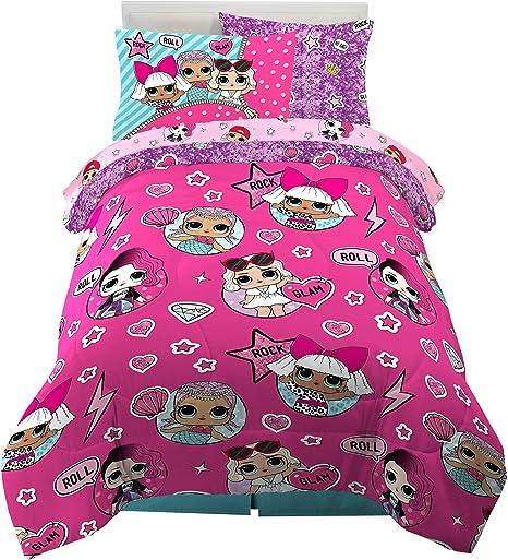 Girls Bedding Multiple Size Set Comforter Sheet Sham 8 Piece Comfort Purple Bed
