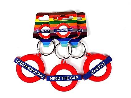 Amazon.com: London Underground Llaveros de goma – Mind The ...