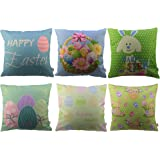 "HOSL FHJ02 Happy Easter Series Throw Pillow Case Decorative Cushion Cover Pillowcase Square 18"" - Set of 6"