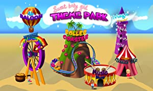 Sweet Baby Girl Theme Park – Ride a Roller Coaster, Fly with Hot Air Balloon, Guess Future, Create Music, Spin the Wheel of Fortune and Have Fun in Clown's Dress Up from TutoTOONS