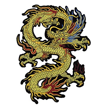 Hongma Aufnäher Patches von Drachen Stickerei für Damen Herren ...