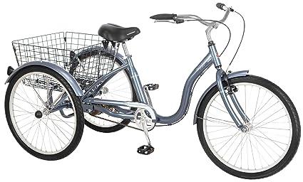 aa75c2d1535 Amazon.com : Schwinn Meridian Adult Tricycle, 24-Inch Wheels, Slate ...