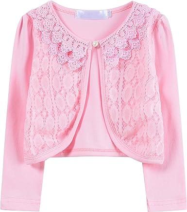 Ourlove Fashion Bolero de encaje de manga larga de algodón para ...