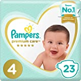 Pampers Premium care Diapers, Size 4, Maxi, 8-14 kg, Carry Pack, 23 Count