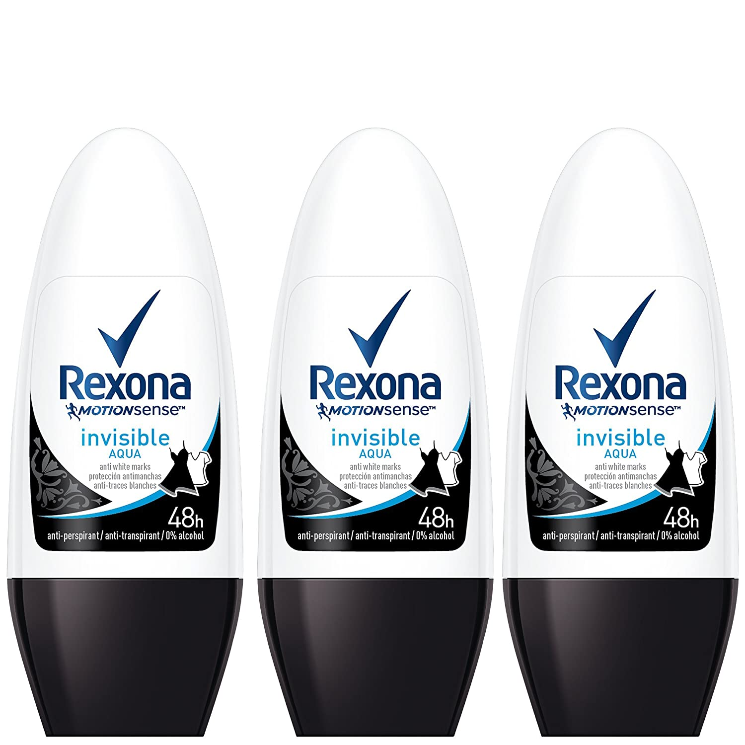 Rexona Invisible Aqua Deo Roll-On Desodorante - 50 ml: Amazon.es: Belleza