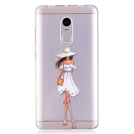 Mosoris Funda Xiaomi Redmi Note 4, Carcasa Suave Transparente TPU Silicona Tapa Xiaomi Redmi Note 4/Note 4X Delgado Protectora Caso Espalda Cubierta ...