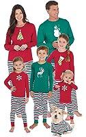 PajamaGram Holiday Stripe Matching Family Pajama Set, Red/Green