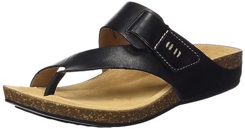 4b25ec8cf Clarks Women s Perri Coast Black Leather Fashion Sandals - 3.5 UK ...