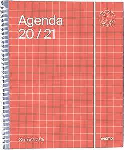 Agenda Universal 2020-2021 Semana Vista - Additio A142-SV: Amazon.es: Oficina y papelería