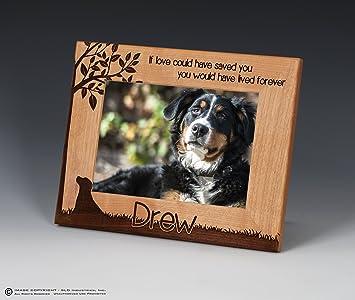 Amazoncom Dog Memorial Engraved Pet Frame Personalized Dog