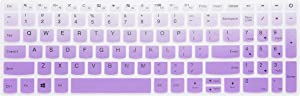 "Keyboard Cover for Lenovo Yoga C740 C940 15, ThinkBook 15, ideapad 320 330 15.6/17.3, ideapad 3 330s 15.6/17.3, ideapad 520/S145 S340 S540 S740 15.6"", ideapad L340 15.6/17.3"" Laptop - Gradual Purple"