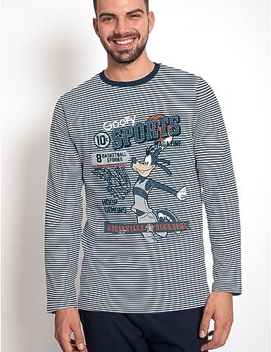 Disney - Pijama Hombre Invierno Goofy Sports Magazine: Amazon ...