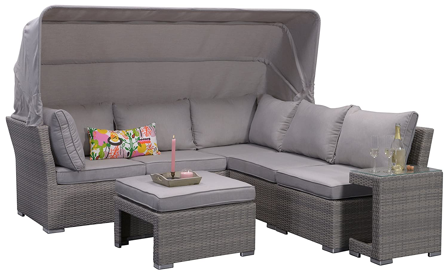 garden impressions 07198gt lounge set kuba shadow 226 x 221 x 75 cm grau jetzt kaufen. Black Bedroom Furniture Sets. Home Design Ideas
