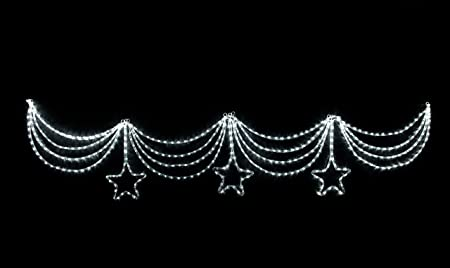 Bright white led rope light christmas curtain swag with 3 twinkle bright white led rope light christmas curtain swag with 3 twinkle stars 3 metres aloadofball Gallery