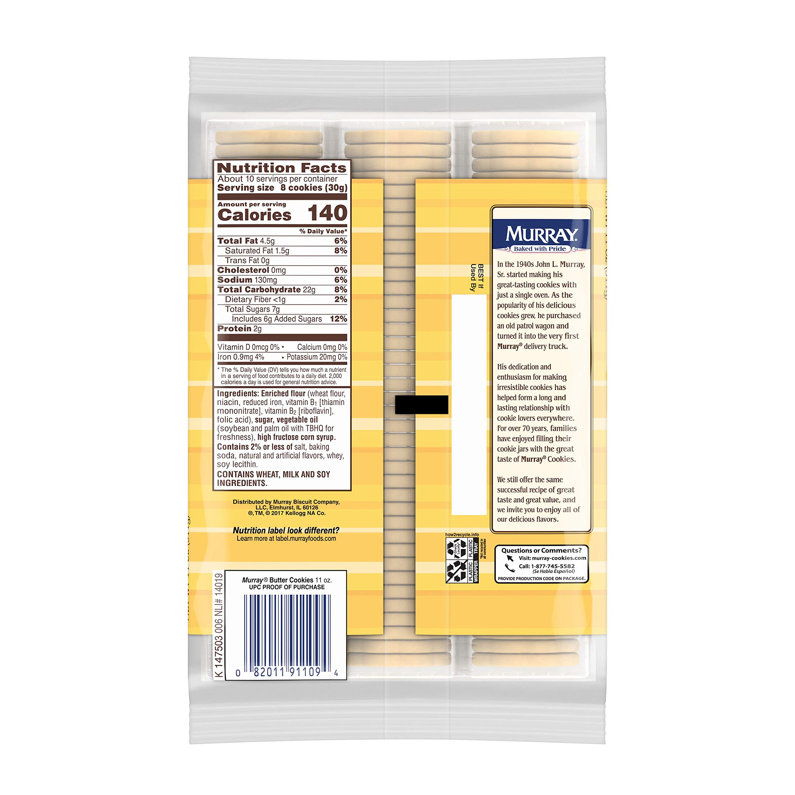 Murray Cookies, Butter, 11 oz Tray by Murray (Image #7)