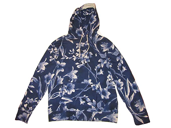 91c07513befde Amazon.com  RALPH LAUREN Polo Mens Spa Terry Floral Pullover Hoodie Blue  (XX-Large)  Clothing