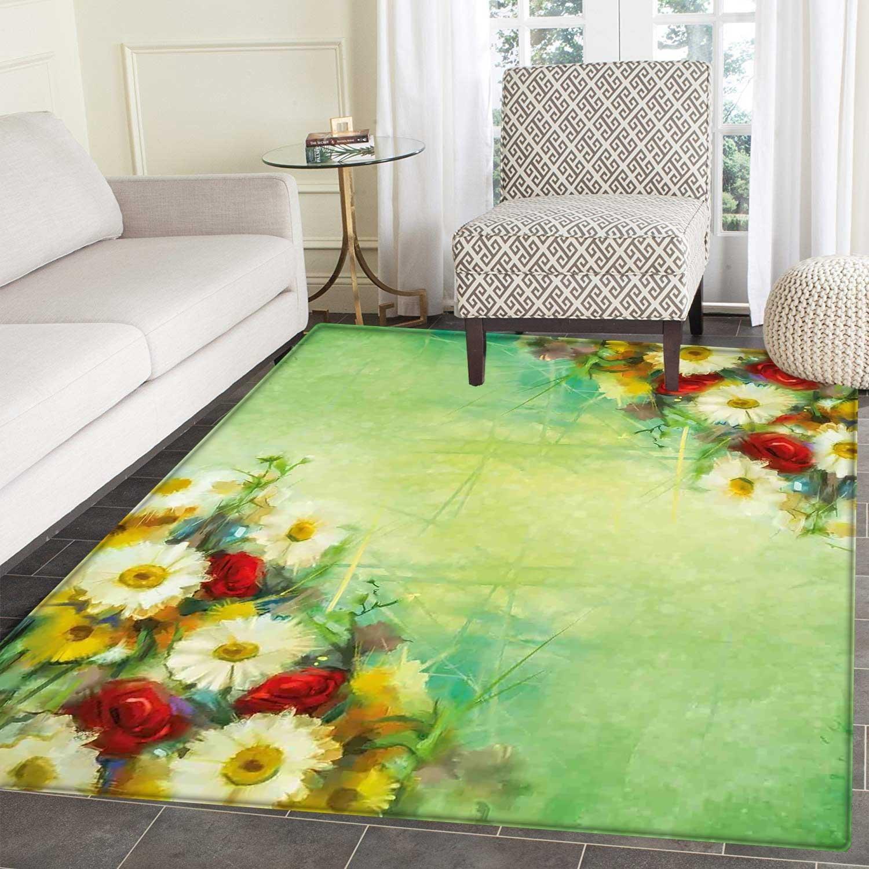 Amazon.com: Flower Floor Mat Pattern Vintage Bouquet Design ...
