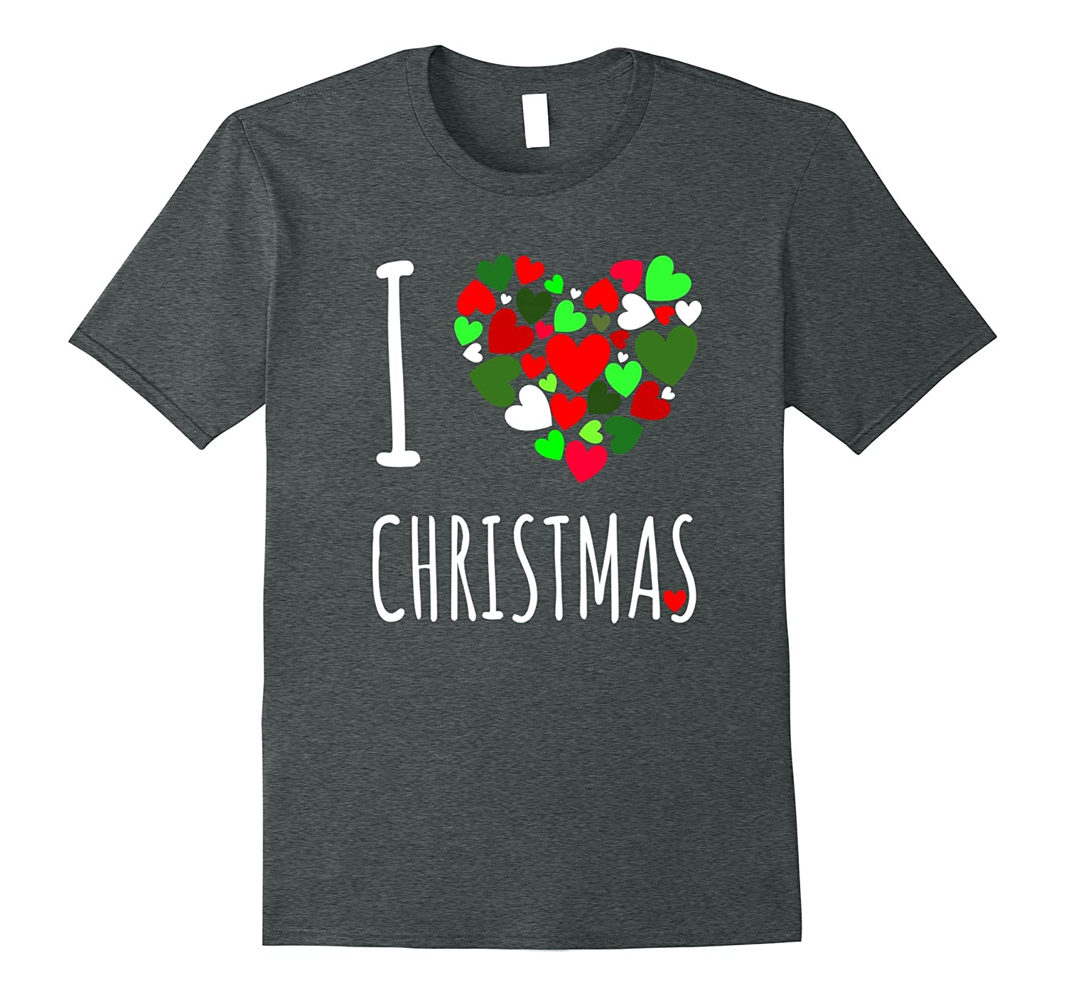 I Love Christmas T Shirt Heart Design Holiday Shirt-ANZ