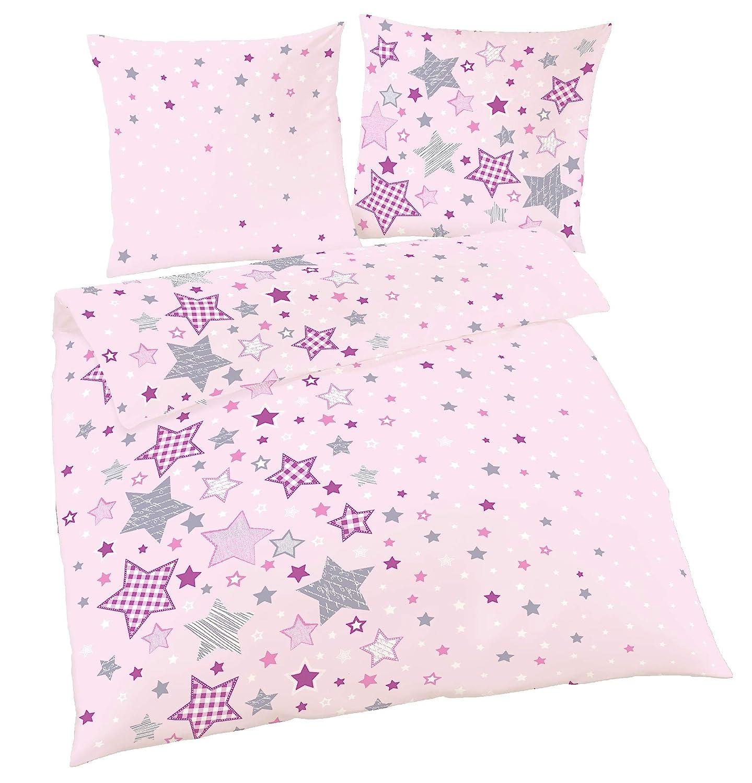 STERNE Fein Biber Mädchen Bettwäsche · Kinderbettwäsche