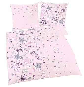 Sterne Fein Biber Mädchen Bettwäsche Kinderbettwäsche Stars