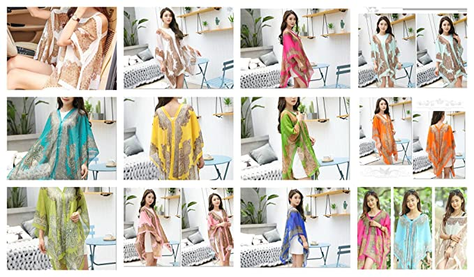 28a1deb91d 12 Kaftan Women wholesale Beach Swimwear Bikini Cover Up Summer Boho ...