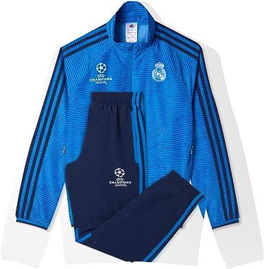 adidas Real Madrid Chándal, niño, Azul Marino/Azul/Blanco, 176 ...