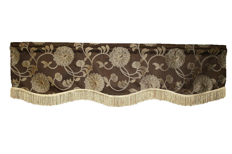 Violet Linen Legacy Damask Window Valance Burgundy 60 x 15 LEGACY DMSK-VAL 60 x 15