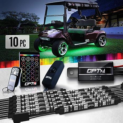 Amazon.com: Kit de iluminación LED para carrito de golf Aura ...