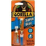 Gorilla Super Glue, Fast-Setting, Anti-Clog Cap, Versatile Cyanoacrylate Glue, Thicker Controlled Formula, Clear, Two 3g…