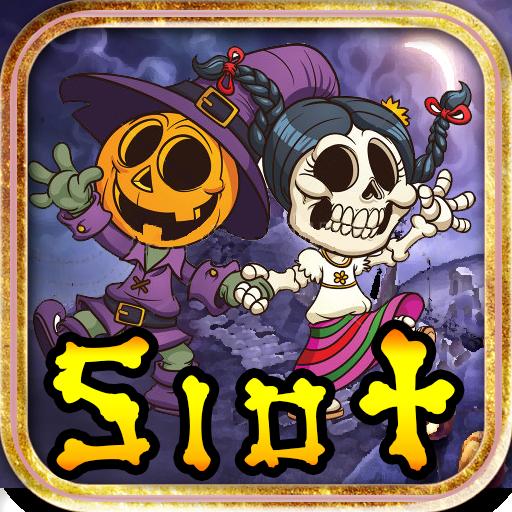 Halloween Pumpkin Roll Bones Skull Lucky Jackpot Casino Slot Machine Poker Machine Free Slots