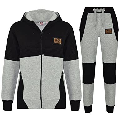 18746dd2cd26 A2Z 4 Kids Boys Girls Tracksuit Designer s A2Z Project Badged Grey   Black  Hoodie   Bottom Jogging Suit Joggers Age 5 6 7 8 9 10 11 12 13 Years