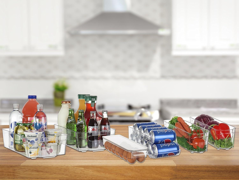 perlli nevera y congelador – juego de bandejas de almacenamiento ...