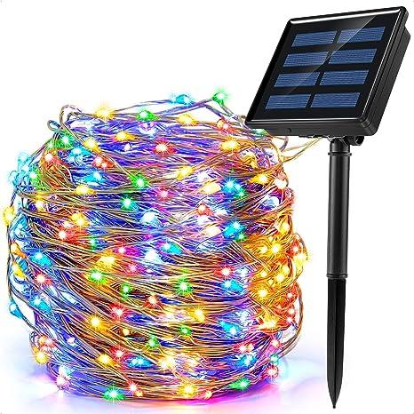 Ankway 200 LED Guirnalda Luces Solares, Cadena Luces Solares 8 Modos 22M/72ft Luces LED Navidad I...