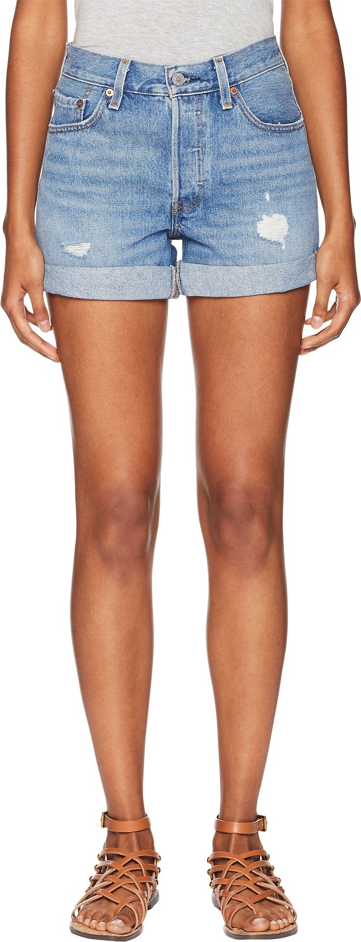 Levi's Premium Women's Premium 501 Long Shorts Highways & Biways 27 3 3