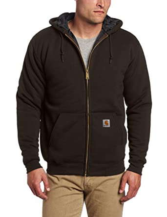 6171626f5 Carhartt Men's 3 Season Midweight Sweatshirt Zip Front Relaxed Fit