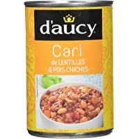 d'aucy Cari de Lentilles/Pois Chiches 400 g