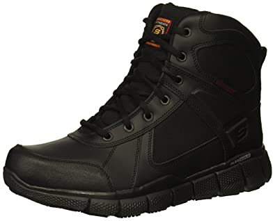 3a915578ca16 Skechers Men s Telfin-Sawaga Military and Tactical Boot Black Leather 7H ...