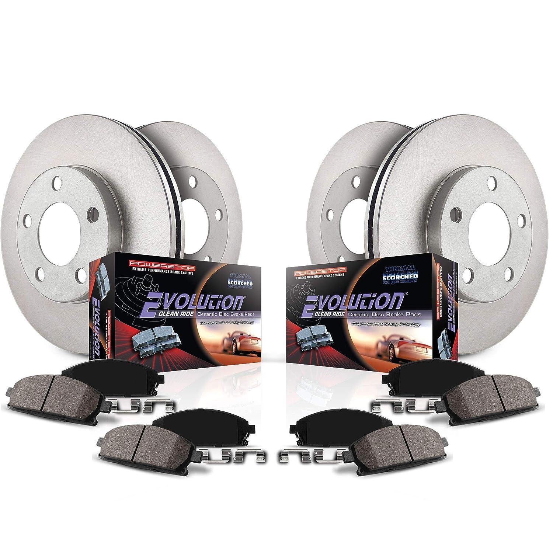 Power Stop KOE8060 Front /& Rear Stock Replacement Brake Kit
