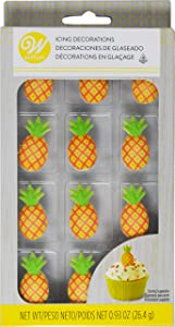 Wilton Pineapple Icing Decorations, 12 Count