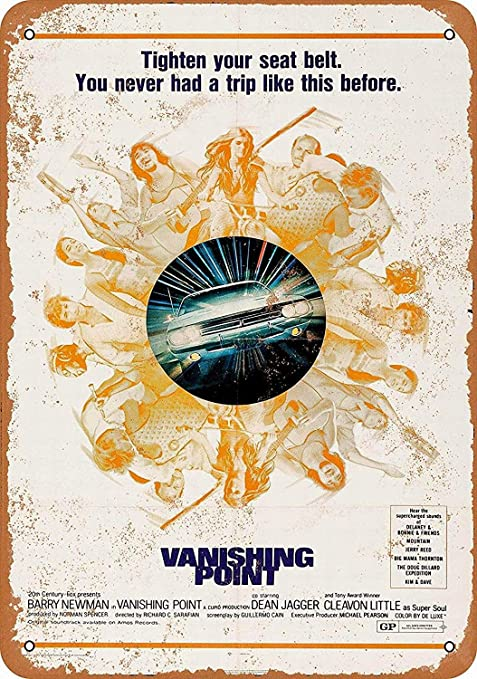 Shunry Vanishing Point Car Placa Cartel Vintage Estaño Signo ...