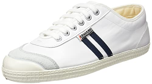 Kawasaki 30 Retro Leathe, Zapatillas Unisex Adulto, Blanco (White/Navy), 37 EU: Amazon.es: Zapatos y complementos